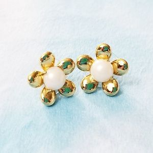 Kate Spade Gold Cream Sunset Blooms Earrings